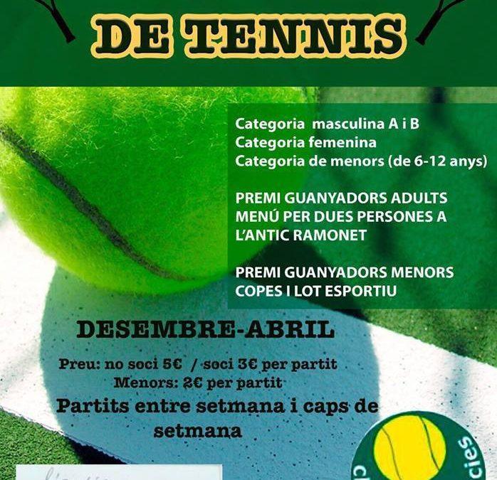 Inscripcions lliga de tennis